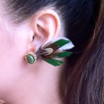 [LADIES ACCESSORIES] R.M.GLIM EARDRESS BOSTON CELTICS