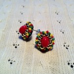 [LADIES ACCESSORIES] R.M.GLIM Ti-da PIERCED EARRINGS RASTA MIX(PIERCE/EARRINGS)