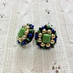 [LADIES ACCESSORIES]R.M.GLIM Ti-da PIERCED EARRINGS GREEN/BLUE(PIERCE/EARRINGS)