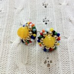 [LADIES ACCESSORIES]R.M.GLIM Ti-da PIERCED EARRINGS YELLOW(PIERCE/EARRINGS)