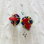[LADIES ACCESSORIES]R.M.GLIM MOSAIC PIERCED EARRINGS (PIERCE/EARRINGS)