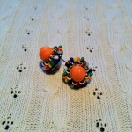 [LADIES ACCESSORIES]R.M.GLIM Ti-da PIERCED EARRINGS ORANGE(PIERCE/EARRINGS)